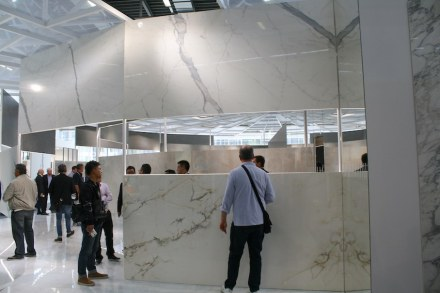 "And another observation: ceramic tiles are becoming bigger still. <a href=""http://www.ariostea.it""target=""_blank"">Ariostea</a> company."