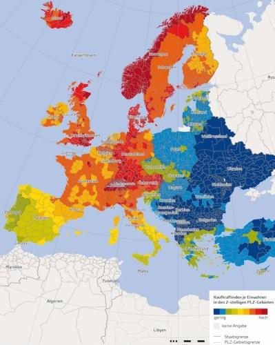 Kaufkraft Europa 2016.