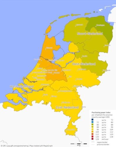 Poder adquisitivo Holanda 2016.