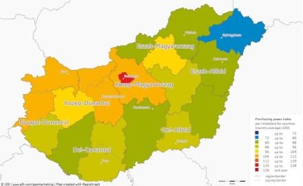 Poder adquisitivo Hungría 2016.