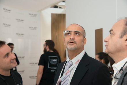 Levantina's Datenbrille auf der Cersaie 2014.