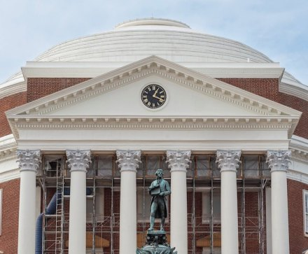 "Award of Excellence, Renovation/Restoration: ""The Rotunda Renovation"" of the University of Virginia's Academic Village Rotunda."