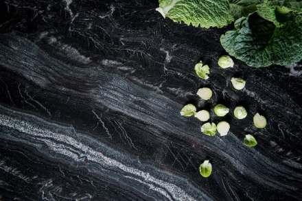 """Strasser Steine, """"Supreme""""-Line: Black Canyon, polished."""