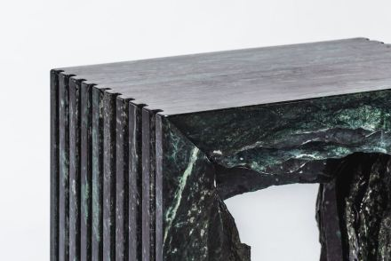 """""""Split Marble Collection"""". Designer: Chang Chia-Ling; manufacturer: Shinying Enterprise Co., Ltd.; material: Serpentinite, Taiwanese white marble."""
