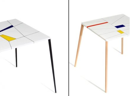Franco Eccel: tables with top made of engineered stone