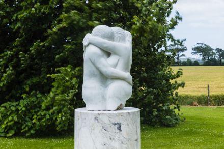 "Edward Sheedy: ""Embrace"", Italian White Marble, 81 x 48 cm"