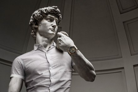 """Leo Caillard: """"Hipsters in Stone II"""" (not in the Louvre)."""