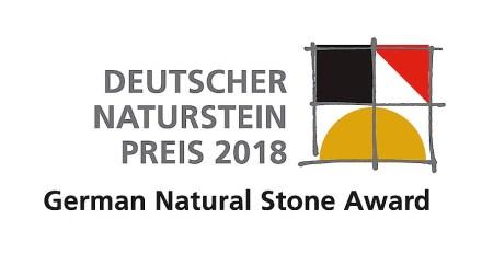Das Logo des Deutschen Naturstein-Preises 2018.
