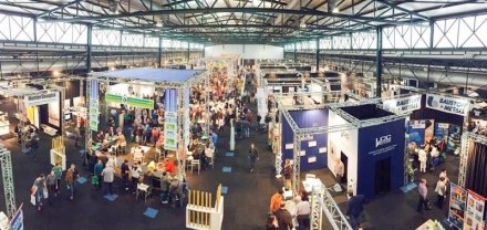 Photo of the Journée du Parachèvement construction fair. Source: Fair