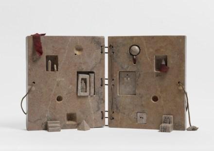 "Gonzalo Fonseca: ""Book (Tumba del Geometra, Vol. II)"", 1977-Limestone. Photo: EPW Studio Maris Hutchinson"