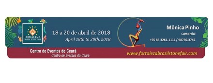 Logo of Fortaleza Brazil Stone Fair 2018.