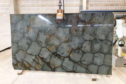 """Blue turtle"", super exotic granite by Vulcano Export company."