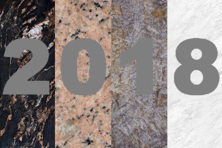 "Stones 2017: (f.l.t.r.) exotic granite ""Black Fusion"", <a href=""http://www.guidoni.com.br/""target=""_blank"">Guidoni Group</a>, Brazil; granite ""Golovyrensky"", <a href=""http://www.stonex.ru/""target=""_blank"">Stonex Group</a>, Russia; quarzite ""Sioux"", <a href=""http://www.brasigran.com.br/""target=""_blank"">Brasigran</a>, Brazil; marble ""Venus Vox"", <a href=""https://www.stonegroup.gr/""target=""_blank"">Stone Group International</a>, Greece."