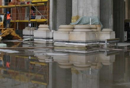 Denkmalgerechte Wiederherstellung ist das große Thema an den Fassaden am Humboldtforum im neuen Berliner Schloss.