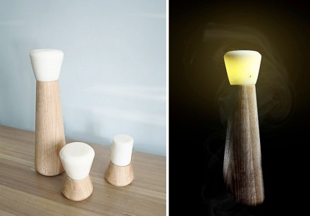 "Bold Design: Table lamps ""Pepe"" and ""Moka""."