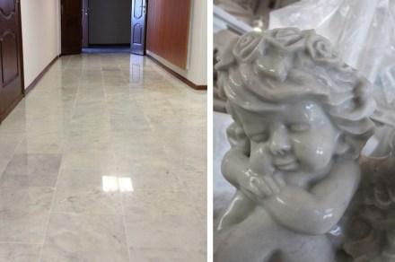 "Russian white ""Koelga marble from <a href="" http://www.koelgamramor.ru""target=""_blank"">Koelgamramor</a> company."
