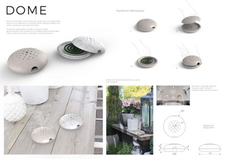 "Professionals, 1st prize, Category decorative products: Edilzalp Akin (Kadir Has University): ""Dome""."