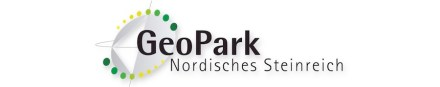 Das Logo des GeoParks Nordisches Steinreich.