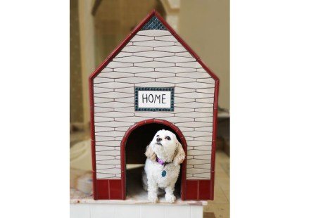 Coverings 2018: doghouses tiled by TCNA members. Photo: TCNA