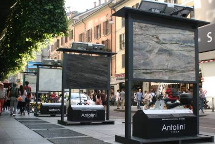 "Fuorisalone: <a href=""http://www.antolini.com/""target=""_blank"">Antolini</a> at Brera district, Milan."