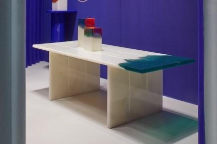 """Budri, Patricia Urquiola: table """"Orilla"""" from """"Agua"""" collection."""