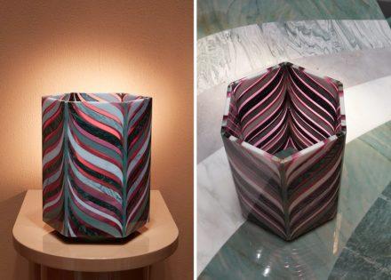 """Budri, Patricia Urquiola: vases """"Algas"""" from """"Agua"""" collection."""