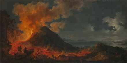 "Pierre Jacques Volaire, ""Eruption of Mount Vesuvius"", c. 1771. Source: State Hermitage Museum, St Petersburg"