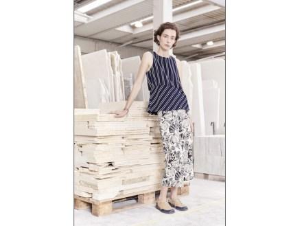 Laura Aparicio at Grassi Pietre's factory.