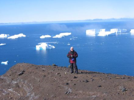 Terry Wilson from Ohio State University on Franklin Island in the Ross Sea, Antarctica. Photo: Ohio State