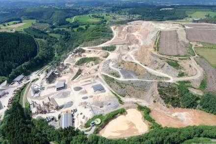Der Steinbruch Waimes von Tra-Ge-Co. Foto: Firma