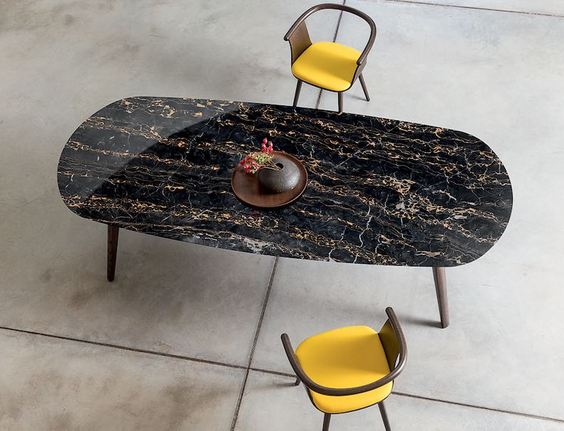 Italian Furniture Company Bross Launched A New Version Of Its Ademar Table  With Marble Top