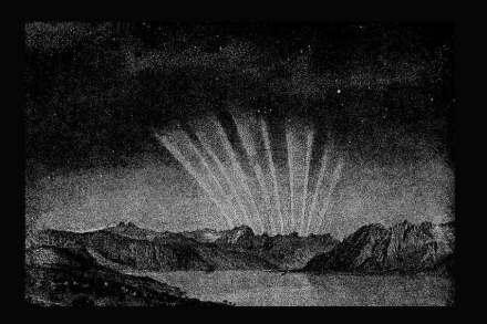 An illustration of the Great Comet of 1744. Source: Wikimedia Commons