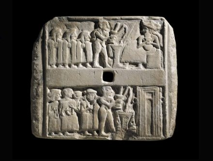 The Ur Plaque, Early Dynastic period, c. 2500 BC. © the Trustees of the British Museum