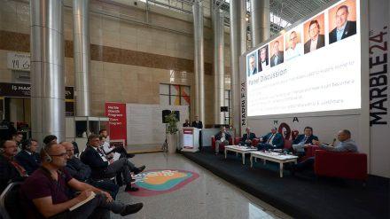 Messe Marble Izmir 2018: Podiumsdiskussion des Natural Stone Institutes.