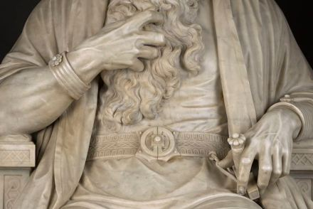 """""""Saul under the Influence of the Evil Spirit"""" (detail), William Wetmore Story."""