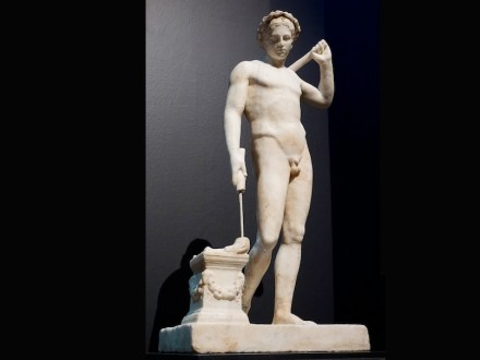 """Marble statuette of a naked youth. Unknown provenance. Late 1st century B.C.. Photo: George E. Koronaios / <a href=""""https://commons.wikimedia.org/""""target=""""_blank"""">Wikimedia Commons</a>"""