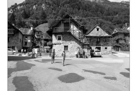 Enrico Sassi: Refurbished the center of Sonogno.