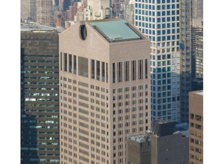 "Der AT&T-Tower in Manhattan, gesehen vom Rockefeller Tower. Foto: Citizen59 / <a href=""https://commons.wikimedia.org/""target=""_blank"">Wikimedia Commons</a>"