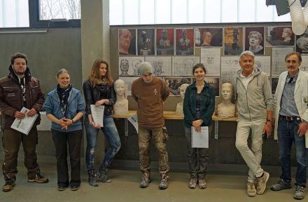 Porträtkurs am Steinzentrum Wunsiedel.