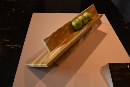 "Fruit bowl ""Minimal"". Design: Konsepta. Company: Quartzblue. Stone: quartzite Sunflower."