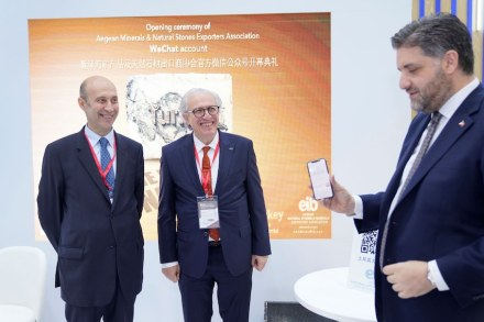 The Turkish Ambassador to China, Abdulkadir Emin Önen (right), launches the WeChat-Account.