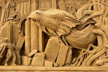 Sand sculpture festival in Hundested, Denmark.