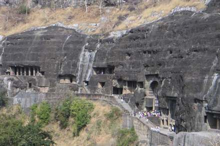 "Ajanta Caves. Photo: <a href=""https://commons.wikimedia.org/""target=""_blank"">Wikimedia Commons</a>"