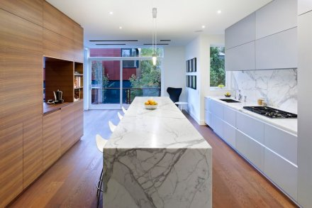 CID-Awards: Residential Stone Design. Project: Annex House. Designer: Dubbeldam Architecture + Design. Location: Toronto, Ontario, Canada.