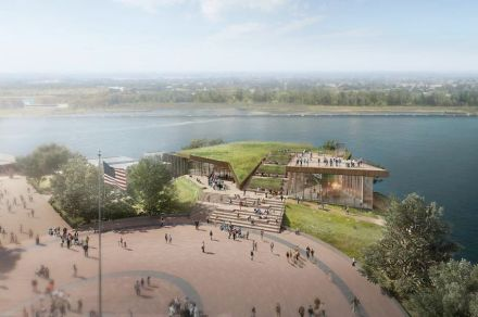 The new Statue of Liberty Museum. Rendering: Foundation
