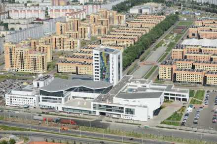 The campus of Kazan University with the guests' accomodation.