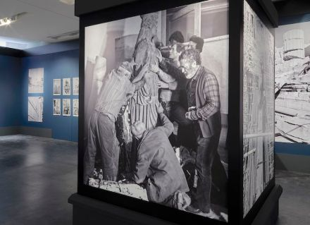 "Ausstellung ""Chisel and Memory"" im Akropolismuseum in Athen."