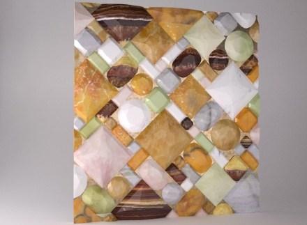 """Citco Privé 2019: Marble wall """"Petit Solitaire"""" (350 x 380cm)."""