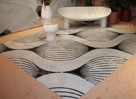 "Citco Privé 2019: marble carpet ""Bulb""."