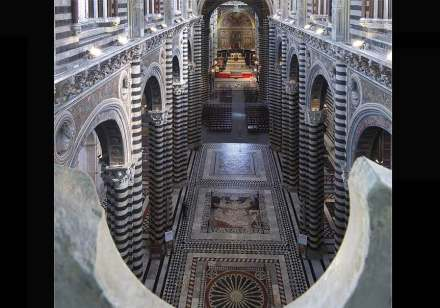Look into the Cathedral of Siena.